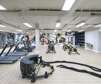 Fitness Weight Room, Eight 80 Newport Beach