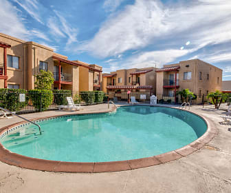 Pool, The Palms Apartments