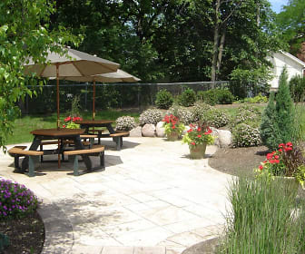 Enjoy outdoor patios & beautiful gardens!, Village in the Park
