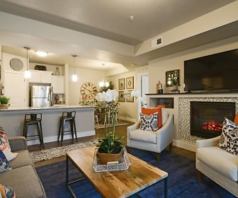 Living Room, Steeplechase Apartments