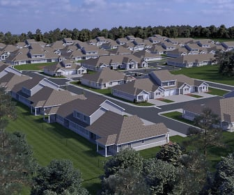 Aerial Views of Rentals, The Cottages at Schillinger's Pointe