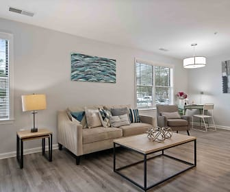 living room featuring parquet floors and plenty of natural light, Henley at Kingstowne