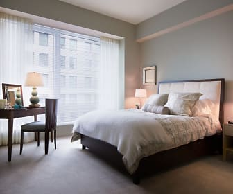 Bedroom, One Back Bay Apartments