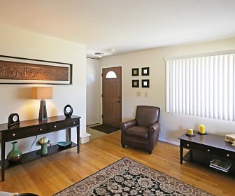 Living Room, Bradley Place Townhomes