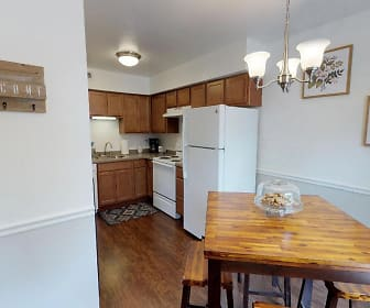 Two Bedroom Townhome Kitchen, Walnut Creek Townhomes