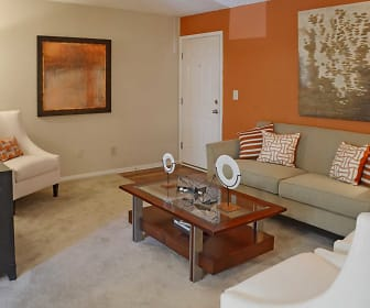 Living Room, The Columns at Peachtree Corners