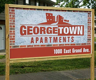 Community Signage, Georgetown Apartments