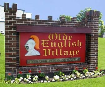 Community Signage, Olde English Village Apartments