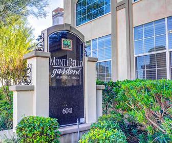 Community Signage, Montebello Gardens Apartments