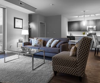 Living Room, Woodview Apartments