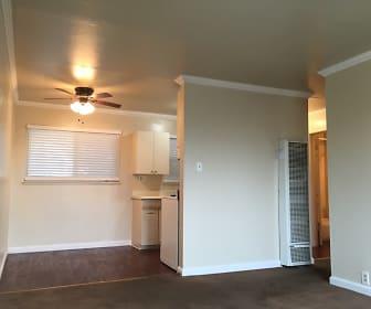 Living Room, Hilltop Apartments
