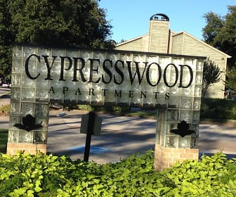 Community Signage, Cypresswood Apartments
