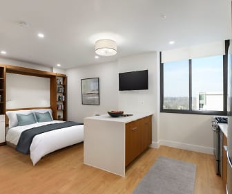 Newly Renovated Studio Apartment with Modern Finishes and a Custom Murphy Bed, The Buchanan