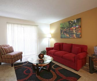 Living Room, Marbletree Apartments