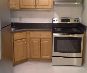 Remodeled 1 Bedroom Kitchen Design 1, Kenmore Apartments