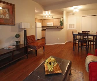 Living Room, Cypress Gardens Apartments