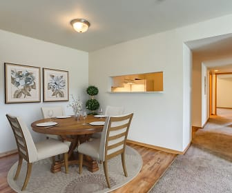 Dining Room, Town Center Apartments