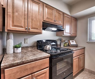 Kitchen, Tall Trees Apartments