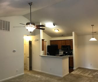 1 BR, 1 BA Valued ceiling, with wood burning fireplace 2nd fl., Huntersville Commons