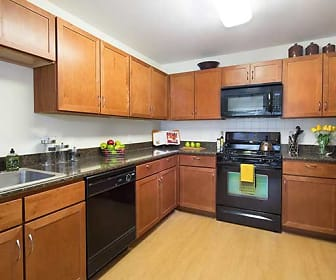 Two Bedroom Kitchen, Huntington Townhomes