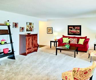 Living Room, South Lake Apartments