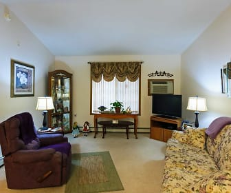 Living Room, River Square Townhomes 55+