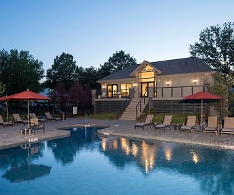 Our Beautiful New Pool and Clubhouse at Dusk, Yardley Crossing