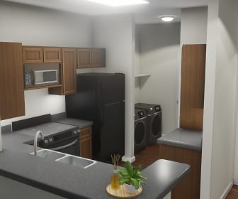 Kitchen, Highland Ridge Apartments