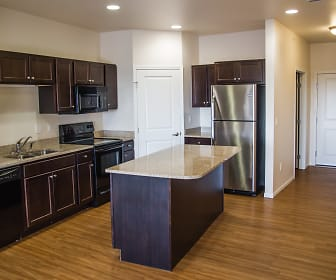 Stylish Kitchens with Center Islands & Stainless Steel Appliances, Commons and Landing at Southgate