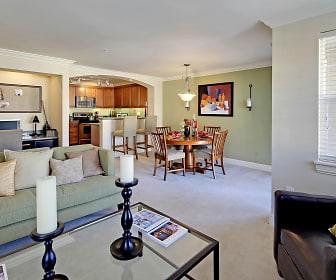 Villaggio on Yarrow Bay Apartments Model Dining Room and Living Room, Villaggio On Yarrow Bay
