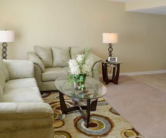 Living Room, Foxwood Apartment Townhomes