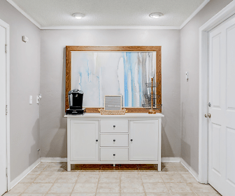 bathroom with tile floors and vanity, 2305 At Killearn