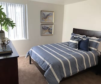 carpeted bedroom featuring natural light, Midtown on Seneca