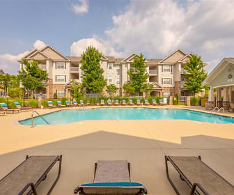 Spacious sundeck at the pool at Hawthorne at the Meadows, Hawthorne at the Meadows