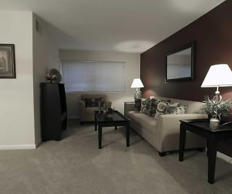 Living Room, Parkway Apartments