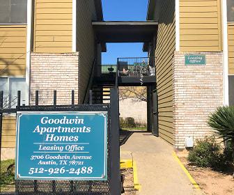 Community Signage, Goodwin Apartments