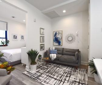 Living Room, 35 Broadway Luxury Rentals
