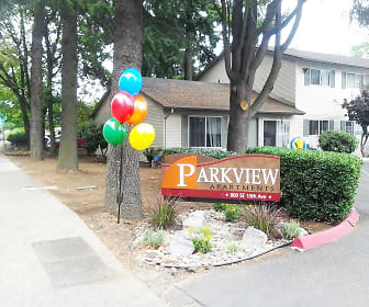 Community Signage, Parkview Apartments