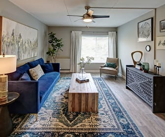 Living Room, Willow Crossing Apartments