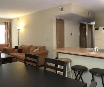 Living Area, Washburn Place Apartments