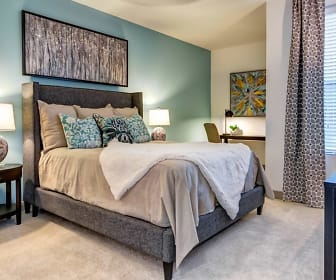 bedroom with carpet and natural light, VELA at Town Lake