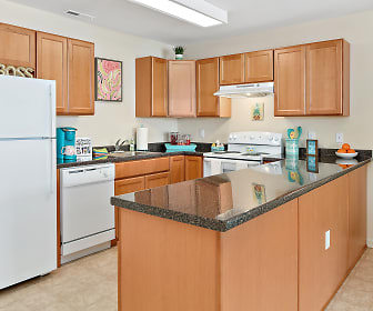 Kitchen, Hawks Run Student Housing