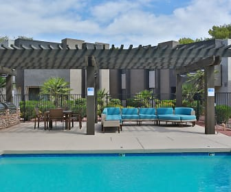 view of pool with an outdoor living space, La Costa Apartment Homes at Dobson Ranch