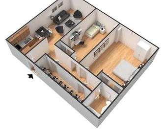 Rivergate Apartments, Downtown West, Minneapolis, MN