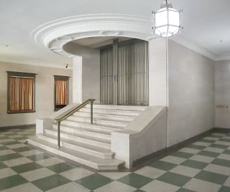The marble staircase greet you at the entrance of Commodore Perry, Commodore Perry