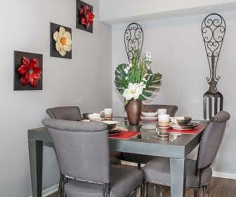Some floor plans offer a separate dining area., Oak Park