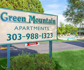 Community Signage, Green Mountain Apartments