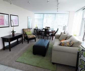 Living Room, Prairie Shores Apartments