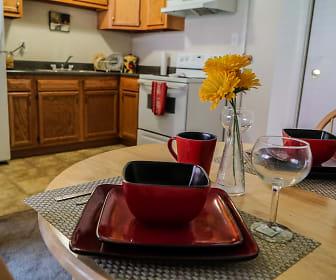 Kitchen, Riverside Apartments