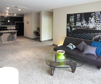 Interior-Living Room, Lofts At Willow Creek